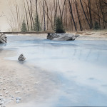 Riviere gelée de Lanchatra